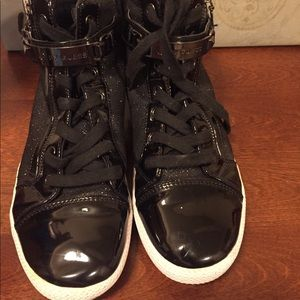 Guess black high tops size 9